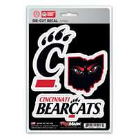 Cincinnati Bearcats Decals - 3 Pack