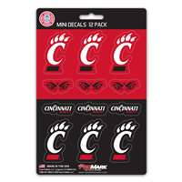 Cincinnati Bearcats Mini Decals - 12 Pack