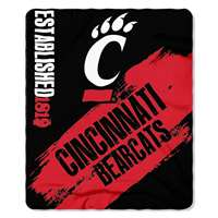 Cincinnati Bearcats Painted Fleece Throw Blanket