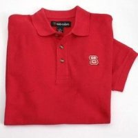 North Carolina State Solid Pique Polo