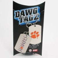 Clemson Dawg Tagz - Military Style Dog Tags