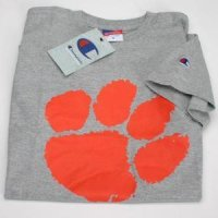 Clemson Paw Logo T-shirt - Oxford Gray