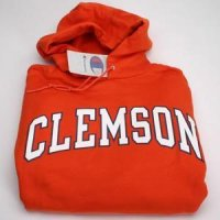 Clemson Arch Design Hooded Sweatshirt - Orange