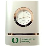 Oregon Brushed Silver Desk Clock