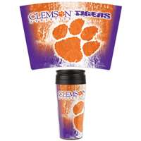 Clemson Tigers 16oz Plastic Travel Mug