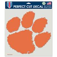 "Clemson Tigers Full Color Die Cut Decal - 8"" X 8"""