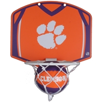 Clemson Tigers Mini Basketball And Hoop Set