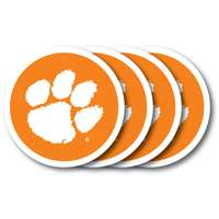 Clemson Tigers Coaster Set - 4 Pack