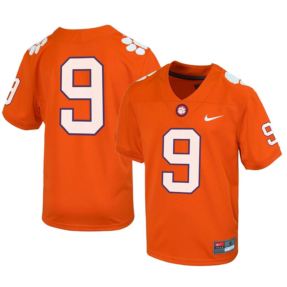 Nike Clemson Tigers Youth Football Jersey - #9 Orange