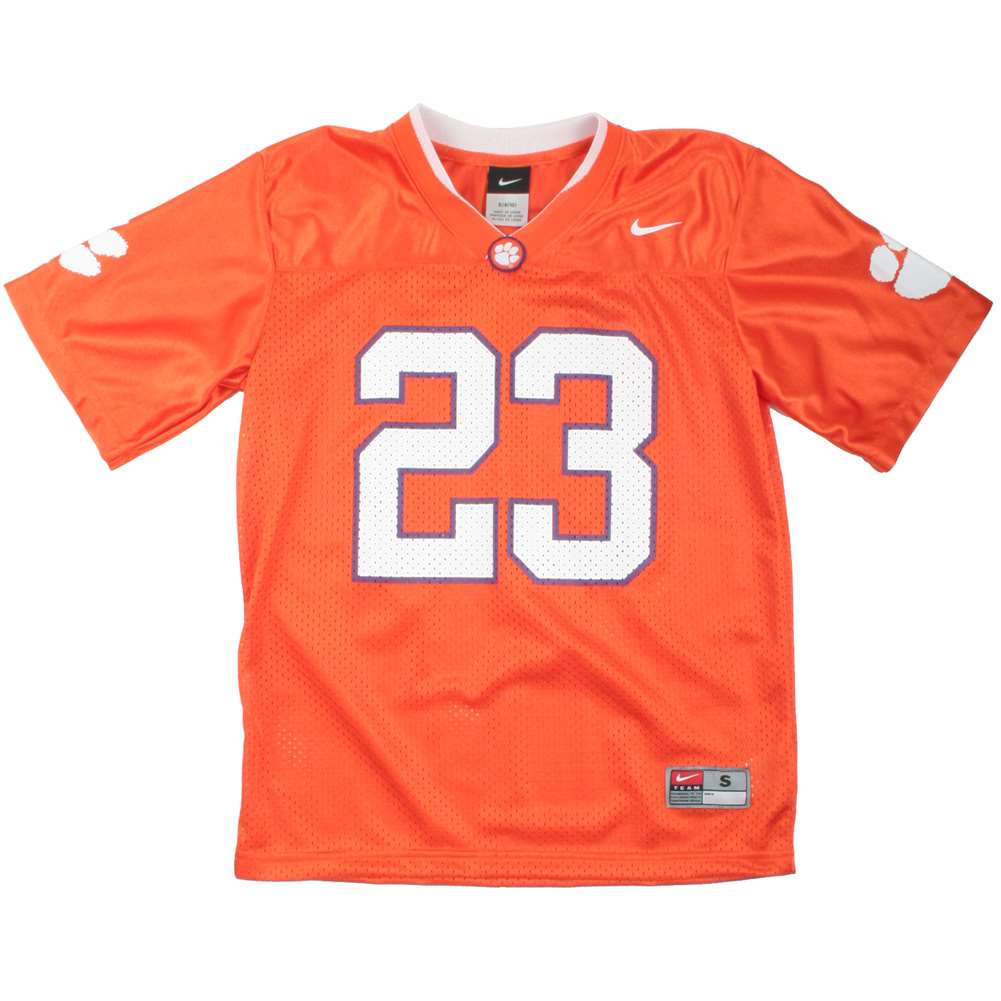 Nike Clemson Tigers Youth Mesh Replica Football Jersey - #23 Orange