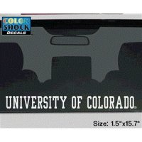 Colorado Buffaloes Buffaloes Decal Strip - University Of Colorado Buffaloes