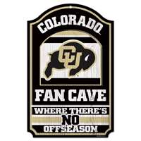 Colorado Buffaloes Fan Cave Wood Sign