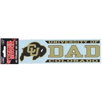Colorado Buffaloes Die Cut Decal Strip - Dad
