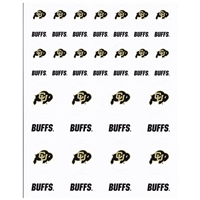 Colorado Buffaloes Small Sticker Sheet - 2 Sheets