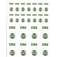 Colorado State Rams Small Sticker Sheet - 2 Sheets