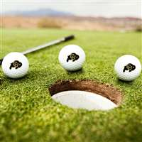 Colorado Buffaloes Golf Balls - Set of 3