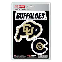 Colorado Buffaloes Decals - 3 Pack