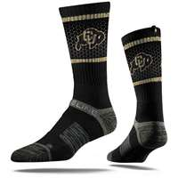 Colorado Buffaloes Strideline Premium Crew Sock - Black