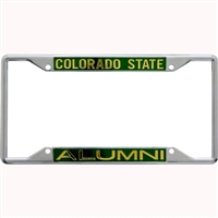 Colorado State Rams Metal Alumni Inlaid Acrylic License Plate Frame