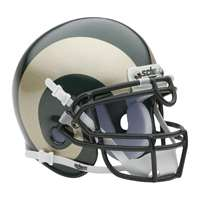 Colorado State Rams Mini Helmet by Schutt - Green