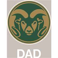 Colorado State Rams Transfer Decal - Dad
