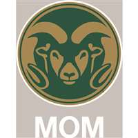 Colorado State Rams Transfer Decal - Mom