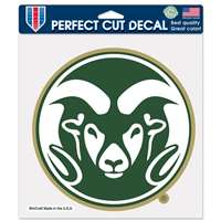 "Colorado State Rams Full Color Die Cut Decal - 8"" X 8"""
