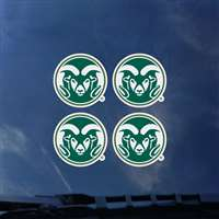 Colorado State Rams Transfer Decals - Set of 4