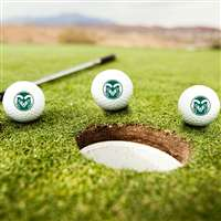 Colorado State Rams Golf Balls - Set of 3
