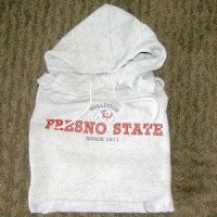 Fresno State Hooded Sweatshirt, Heather