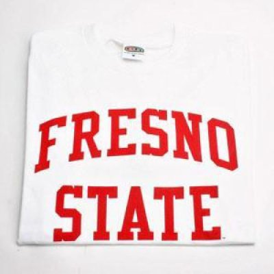 Fresno state t shirt arch print one color white for T shirt printing fresno
