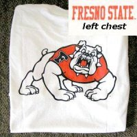 Fresno State T-shirt - Logo Front And Back, White