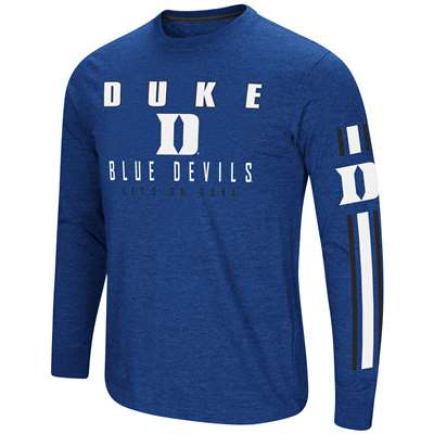 d58abe61889 Duke Blue Devils Colosseum Touchdown Pass L S T-Shirt -White Print