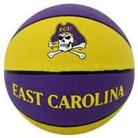 East Carolina Pirates Mini Rubber Basketball
