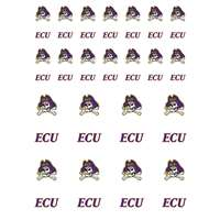 East Carolina Pirates Small Sticker Sheet - 2 Sheets