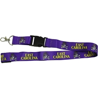 East Carolina Pirates Logo Lanyard