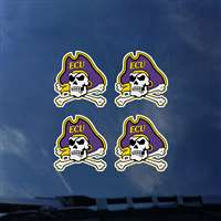 East Carolina Pirates Transfer Decals - Set of 4