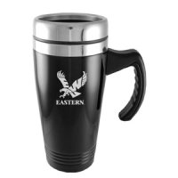 Eastern Washington Eagles Engraved 16oz Stainless Steel Travel Mug - Black