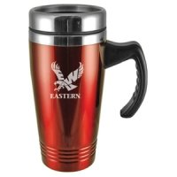 Eastern Washington Eagles Engraved 16oz Stainless Steel Travel Mug - Red