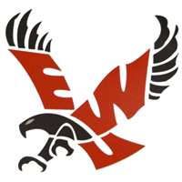 "Eastern Washington Eagles Full Color Die Cut Decal - 8"" X 8"""