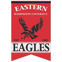 "Eastern Washington Eagles Premium Felt Banner - 17"" X 26"""