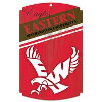 Eastern Washington Eagles Wood Sign