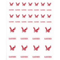 Eastern Washington Eagles Small Sticker Sheet - 2 Sheets