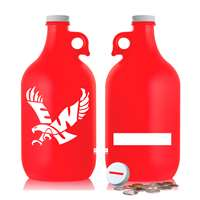 Eastern Washington Eagles 64oz Glass Growler - Red