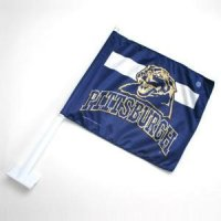 Pittsburgh Panthers Panters Double Sided Car Flag