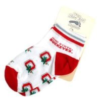"Ohio State ""ohio State Buckeyes"" With ""o"" Pattern Infant Socks"