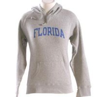 Florida Womens Hooded Sweatshirt - Florida Arched - By Champion - Oxford Heather