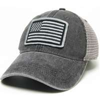 American Flag Legacy Trucker Hat - Black