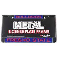 Fresno State Bulldogs Metal Inlaid Acrylic License Plate Frame