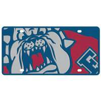 Fresno State Bulldogs Full Color Mega Inlay License Plate